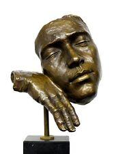 "Moderne Kunst Bronze ""Der Schlafende"" Hommage an Salvador Dali, signiert"
