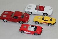 Lot of 4 Corvette Stingray Diecast Cars Revell Tootsietoy 1/24 1988 1963 1959