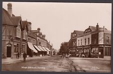 Postcard Sandy nr Bedford old High Street shops Post Office RP Nicholls of Luton