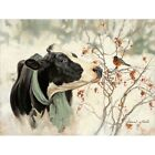 Art Print, Framed or Plaque by Bonnie Mohr - The Winter Robin - COW319