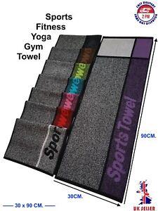 Sports Gym Towel, Fitness/Yoga/Outdoor 100%Cotton,Jacquard,Uni-Colour/Bi-Colour