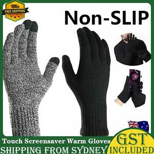 Touch Screensaver Warm Gloves Knitted Mobile Phone Non-slip Full Fingers Winter