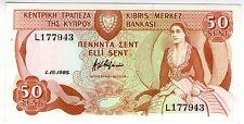 **   CHYPRE     50  cents   1988   p-52    UNC   **