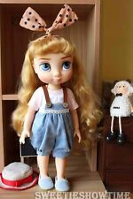 """Disney Baby doll clothes overalls clothing Animator's collection Princess 16"""""""