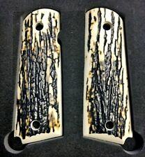 1911 Grips Fits Springfield Colt Rock Island Gov Mod Faux Mammoth Mastodon Bark