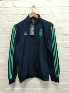 adidas Real Madrid CF Men's UCL Presentation Jacket - Small - Navy - NWD