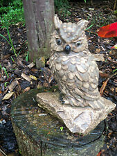 """Owl mould latex mould mold of an owl on a stone 7"""" tall, beautiful markings"""