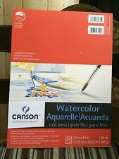 "NEW Canson Watercolor Paper Pad 9"" x 12"" 90 lb 15 Sheets Cold Press"