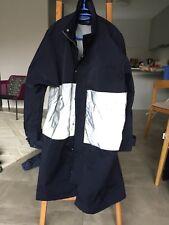 Asos Reflective 3M Coat Water Resistant Jacket Blue S Small Navy Coat Hoodie