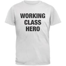 Working Class Hero Inspired By John Lennon White Adult T-Shirt