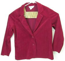 Lady Blair Womens 2 Button Blazer Size 18 Rose Red Long Sleeve Jacket Coat