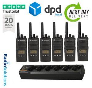 MOTOROLA XT460 SIX PACK WALKIE TALKIE WITH CHARGER BUSINESS TWO WAY RADIO