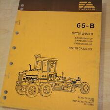 Allis Chalmers 65b Motor Grader Parts Manual Book Catalog Spare Road Owner Plow