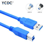 USB 3.0 2.0 Data Cable Cord High Speed For Printers Scanners A Male to B Male D