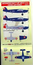 KORA Models Decals 1/72 Swiss Air Force MESSERSCHMITT Bf-108B TAIFUN