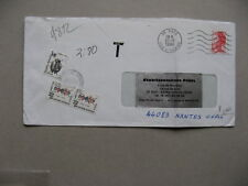 FRANCE, cover 1986, Postage due 3 + 2x 40,  insect