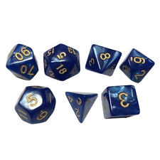 7pcs/set TRPG Game Dungeons&Dragons Pearl Grain D4-D20 Multi Sided Dices
