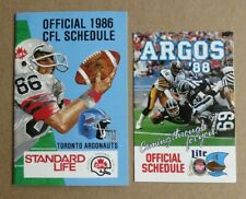 1986 1988 Toronto Argonauts Pocket Schedule lot
