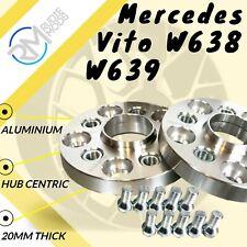 2 X 20MM Hubcentric Alliage Entretoises Roue Mercedes Vito Classe V Vaneo Viano