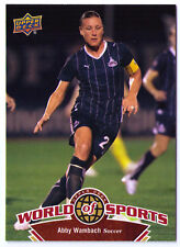 Abby Wambach soccer trading card World of Sports UD#102