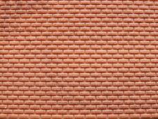 Muretto mattoni rossi per modellismo HO - 1/87 cm.22X12 - Krea 3003