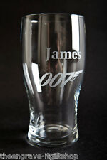Personalised James Bond Pint Glass - Gift Boxed