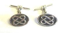 Sterling Silver Celtic Style Oval Cufflinks                               B91923