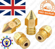 5x MK8 Brass Nozzle 0.2 3 4 5 1.75mm Makerbot CR 10 Ender 2 3D Printer Part M6