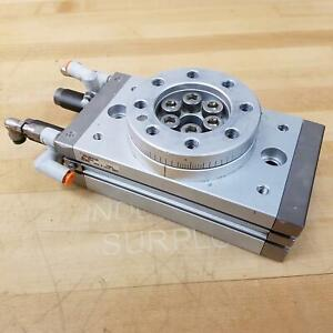 SMC MSQB100R Pneumatic Rotary Actuator With Table - USED
