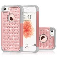 For iPhone SE/5/5s/6/6s/7/8 Case Shockproof Bling Glitter Hybrid Rubber Cover