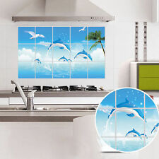 Waterproof Dolphins Kitchen Oil-proof Removable Wall Stickers Vinyl Art Deco 551