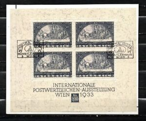 Austria Osterreich 1933 WIPA SS First Day Cancel USED