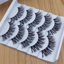 5 PAIRS MAKEUP HANDMADE LONG VOLUME FALSE EYELASHES LASHES EXTENSIONS ROSY