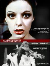 Vampire Ecstasy + Sin You Sinners DVD Joe Sarno double bill Film Media
