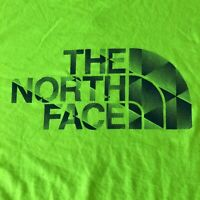 Mens THE NORTH FACE VaporWick Green Hi Viz Gym Running T-shirt Size XL / TG