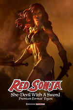 RED SONJA SHE DEVIL WITH A SWORD PREMIUM FORMAT STATUE SIDESHOW CONAN