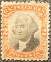 Scott #R135 US 1872 2 Cent Washington Revenue Documentary Stamp Uncanceled