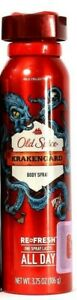 1 Bottles Old Spice Wild Collection 3.75 Oz Krakengard Lasts All Day Body Spray
