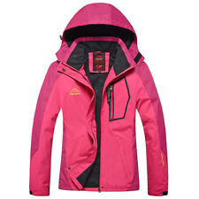 Womens Outdoor Jackets Lovers Outwear Snowboard Tops Hiking Skating Sports Coats Rose Red L(uk Size S)