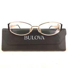 Bulova Women's RX Eyeglass Frames Atlantic City Gold Tone Pewter 53-16 135