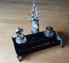 ANTICO PORTAPENNE CON DOPPIO CALAMAIO OLD FOUNTAIN HOLDER WITH DOUBLE INKWELL