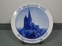 Teller,Rosenthal,Selb,Jubiläum,Nordhausen,1000 jährige Stadt,Porzellan,um 1927