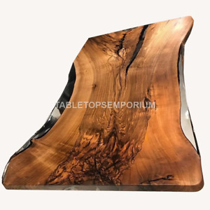 Clear Resin River Wood Acacia Transparent Table Handmade Dining Table Furniture