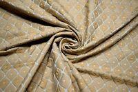 Beige Bronze Upholstery Vervain Italian Silk Drapery Fabric Rombetto Bluesable