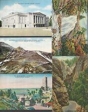 LOT of 10 COLORADO SPRINGS/PIKES PEAK Cards ~ All Different LINEN