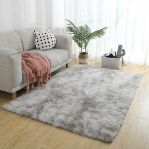 Large Fluffy Rugs Anti-Skid Shaggy Area Rug Living Room Carpet Floor Mat Bedroom