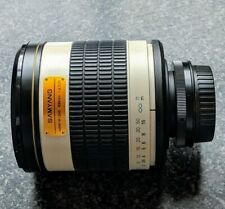 500mm Samyang 1:6.3 DX for Canon DSLR will fit others nikon sony m4/3 etc