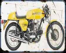 Ducati 750 Sport 74 A4 Metal Sign Motorbike Vintage Aged