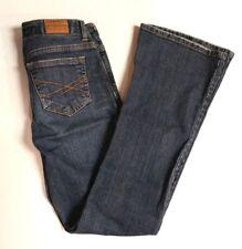 Aeropostale Hailey Flare Jeans 0 short 0S women's medium wash denim blue