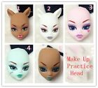 Soft Practice Makeup Doll Heads For Monster High Doll BJD Practicing Head 1:6